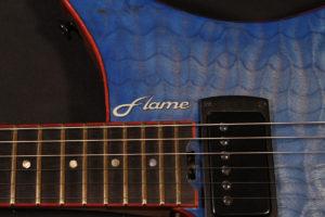 headless guitar Flame Guitars