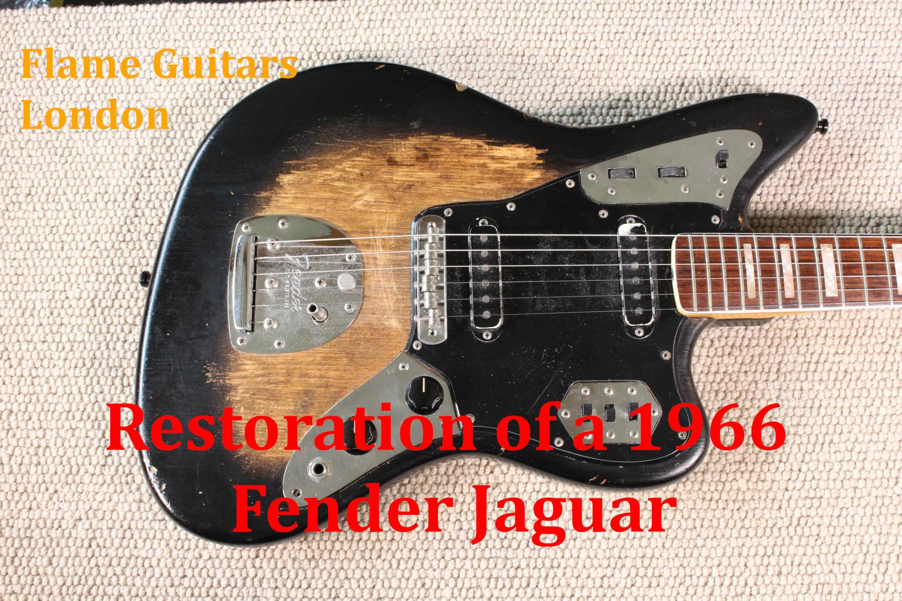 vintage fender jaguar wiring restoration of a 1966 fender jaguar flame guitars  restoration of a 1966 fender jaguar
